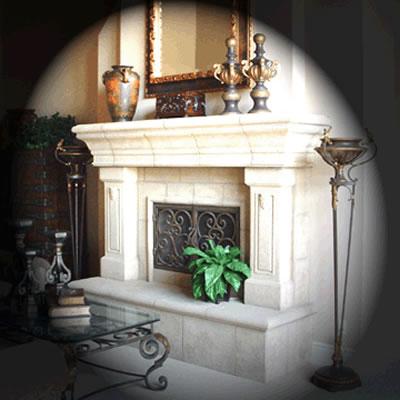 Fireplace Surrounds - Precast Concrete - Lite Stone Concrete - San Diego, California